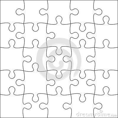20 Piece Jigsaw Puzzle Template Image Gallery - Hcpr