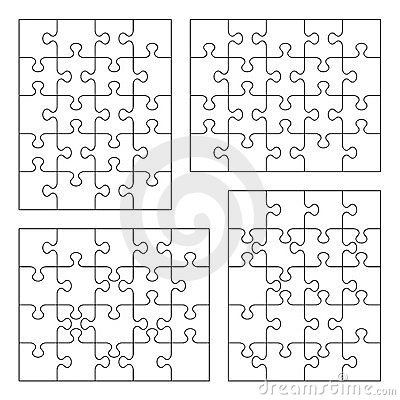 Jigsaw puzzle blank templates