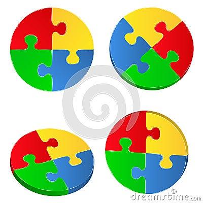 Jigsaw Puzzle Circles