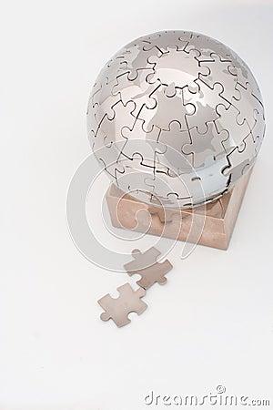 Jigsaw puzzle globe