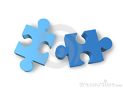 Jigsaw puzzle isolated