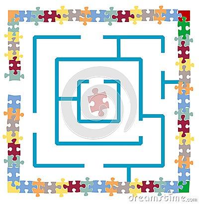 Jigsaw Puzzle Maze