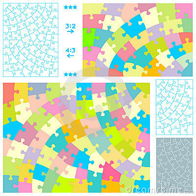 Free Jigsaw Puzzle Templates Royalty Free Stock Photos - 7677758