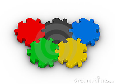 Jigsaw puzzles olympic rings