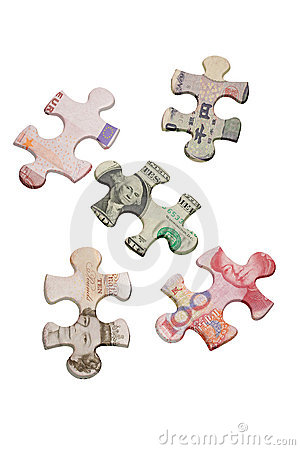 Jigsaw puzzles and world major currencies
