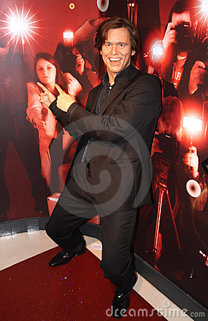 Jim Carrey at Madame Tussaud s Editorial Image