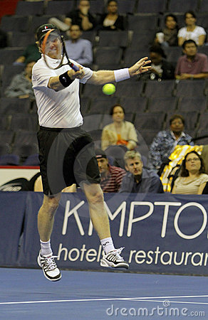 Jim Courier - Tennis legends on the court 2011 Editorial Image