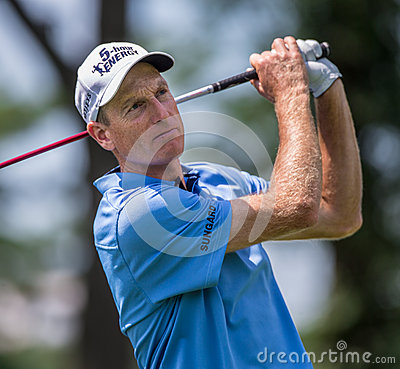 Jim Furyk at the 2012 Barclays Editorial Stock Photo