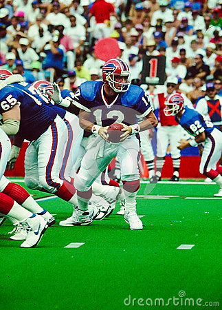 Jim Kelly Buffalo Bills QB Editorial Photography