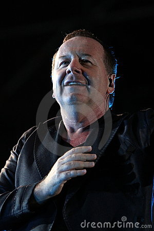 Jim Kerr of Simple Minds, live concert Editorial Photo