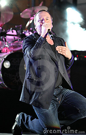 Jim Kerr of Simple Minds, live concert Editorial Stock Photo