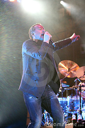 Jim Kerr of Simple Minds, live concert Editorial Photography