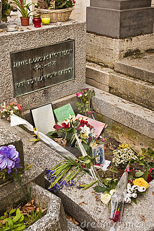 Jim Morrison s Grave Editorial Stock Image