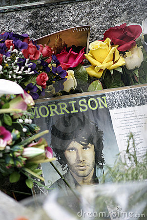 Jim Morrison's Grave Stock Photo - Image: 16246910