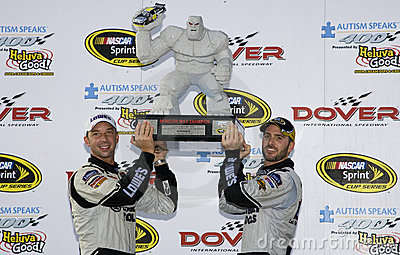 Jimmie Johnson wins the  Autism Speaks 400 Editorial Image