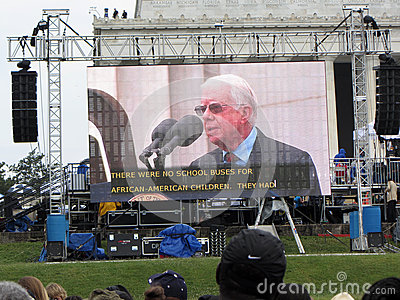 Jimmy Carter Speaks Editorial Photography