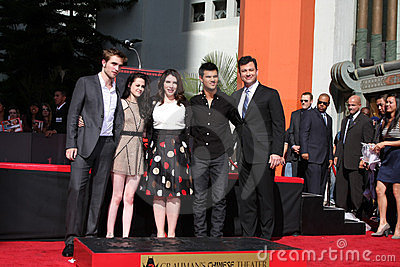Jimmy Kimmel, Kristen Stewart, Robert Pattinson, Taylor Lautner, Stephanie Meyers Editorial Photo