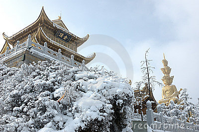 Jinding temple and Puxian Buddha