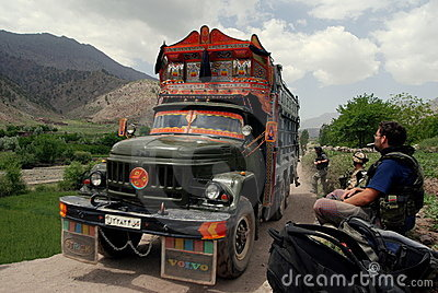 Jingle Truck in Afghanistan Editorial Image