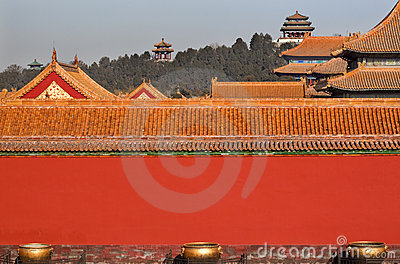 Jinshang Park Forbidden City Yellow Roofs Beijing