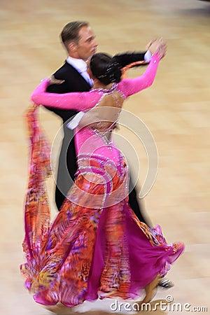Jiri Liska & Mirka Navratilova - standard dancing Editorial Stock Image