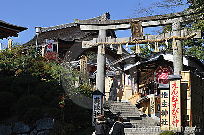 Jishu-jinja, Kyoto Editorial Stock Photo