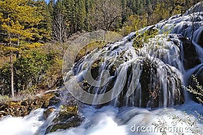 Jiuzhaigou shuzheng waterfall