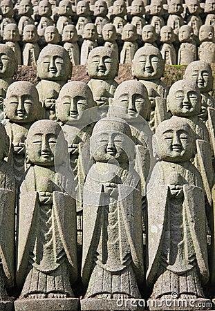 Jizo stone statues