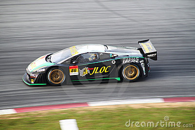 JLOC Lamborghini car 86, Super GT 2010 Editorial Photography