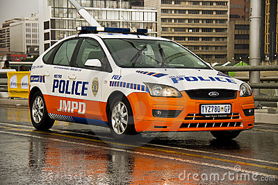 JMPD Police Patrol Vehicle Editorial Image