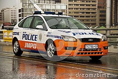 JMPD Police Patrol Vehicle Editorial Image