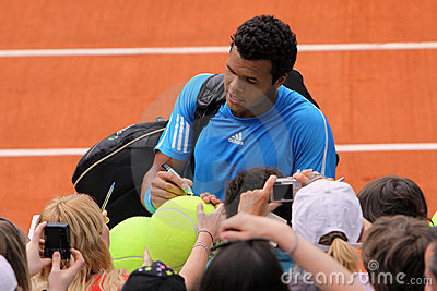 Jo-Wilfried Tsonga at Roland Garros 2009 Editorial Photography