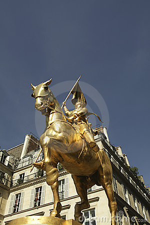 Joan of Arc in bronze