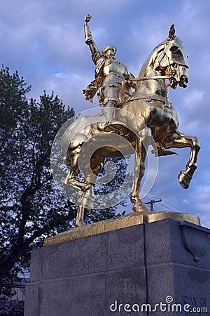 Joan of Arc statue in Laurelhust, Portland, Oregon.