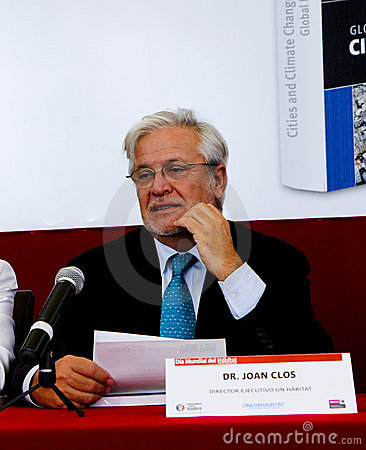 Joan Clos, Executive Director of UN Habitat Editorial Photo