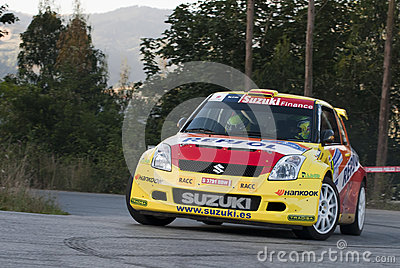 Joan Vinyes Suzuki Swift Rally Principe de Asturia Editorial Photography