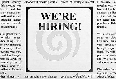 Job Ad In Newspaper Stock Photo - Image: 51248563