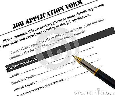 JOB APPLICATION FORM (click