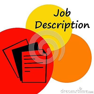 job description stock photo   image