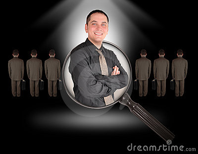 Job Employee Man Search on Black