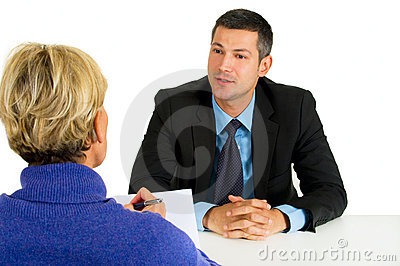 Job interview with man and woman