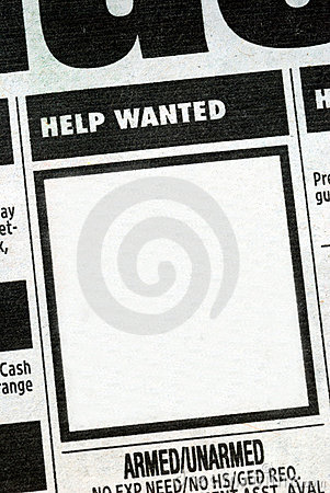 Job listing with the center posting
