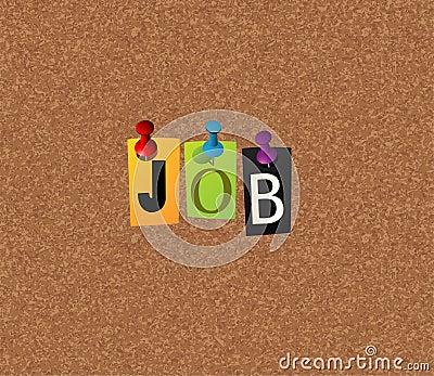 Job notice concept