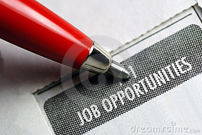 Job Opportunity Classified Royalty Free Stock Image - Image: 6048816