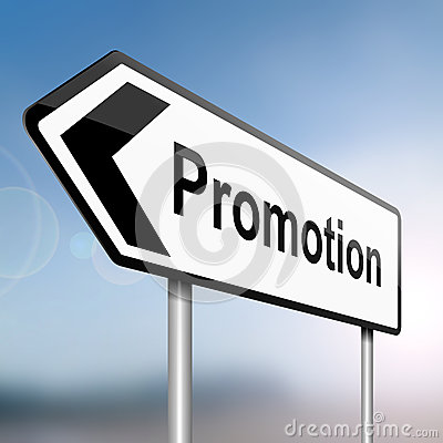 Job promotion concept.