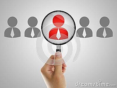 Job recruitment Stock Photo