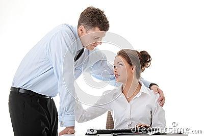 Job romance concept