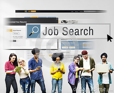 Job Search Human Resources Recruitment Career Concept Stock Photo