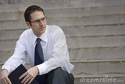 Job Searching Businessman