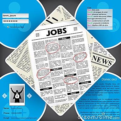Job seekers website template design